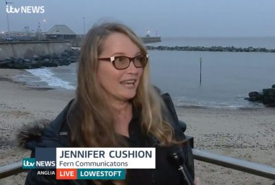 Jennifer Cushion on Anglia news live